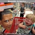 Cue the Racist Card in 3 ... 2 ...   kid crying obama mask shopping cart Meanwhile In America 590x476 120x120