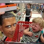 Jedi on the Streets ...   kid crying obama mask shopping cart Meanwhile In America 590x476 150x150