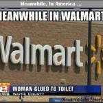 Meanwhile, In Walmart ...   woman glued to toilet walmart Meanwhile In America 150x150