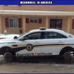 Or NOT!   cop car on blocks stolen wheels Meanwhile In America 150x150