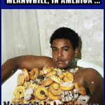 In Murica, Even the Dogs Love Their Food   fat lazy donut eating nigga tub Meanwhile In America 150x150c