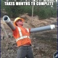 Aha!   Road Construction Worker Goofing Around Meanwhile In America 120x120c