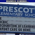 How Does THIS Even Happen??   funny mispelled school sign Meanwhile In America 150x150c